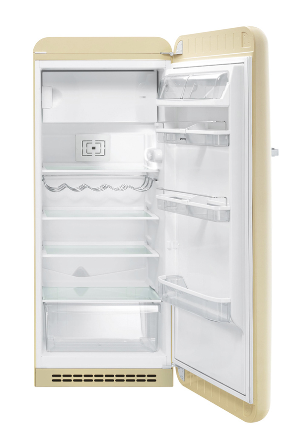 Refrigerateur armoire smeg fab28rp1 3598780 darty for Interieur frigo smeg