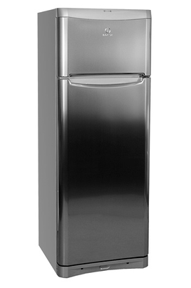 refrigerateur congelateur en haut indesit ntaa 25nx inox 2729008. Black Bedroom Furniture Sets. Home Design Ideas