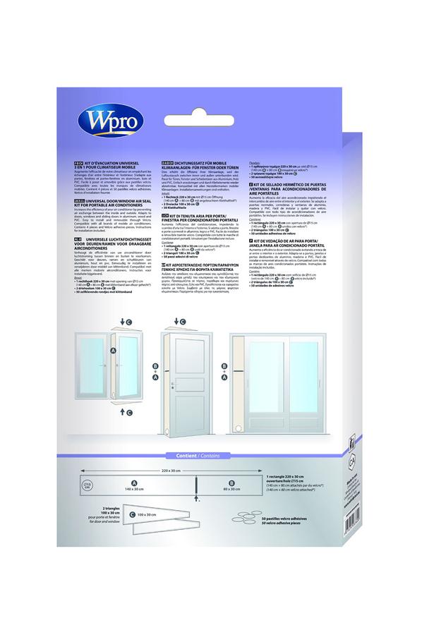 accessoire climatiseur / ventilateur wpro kit fenetre (4020766