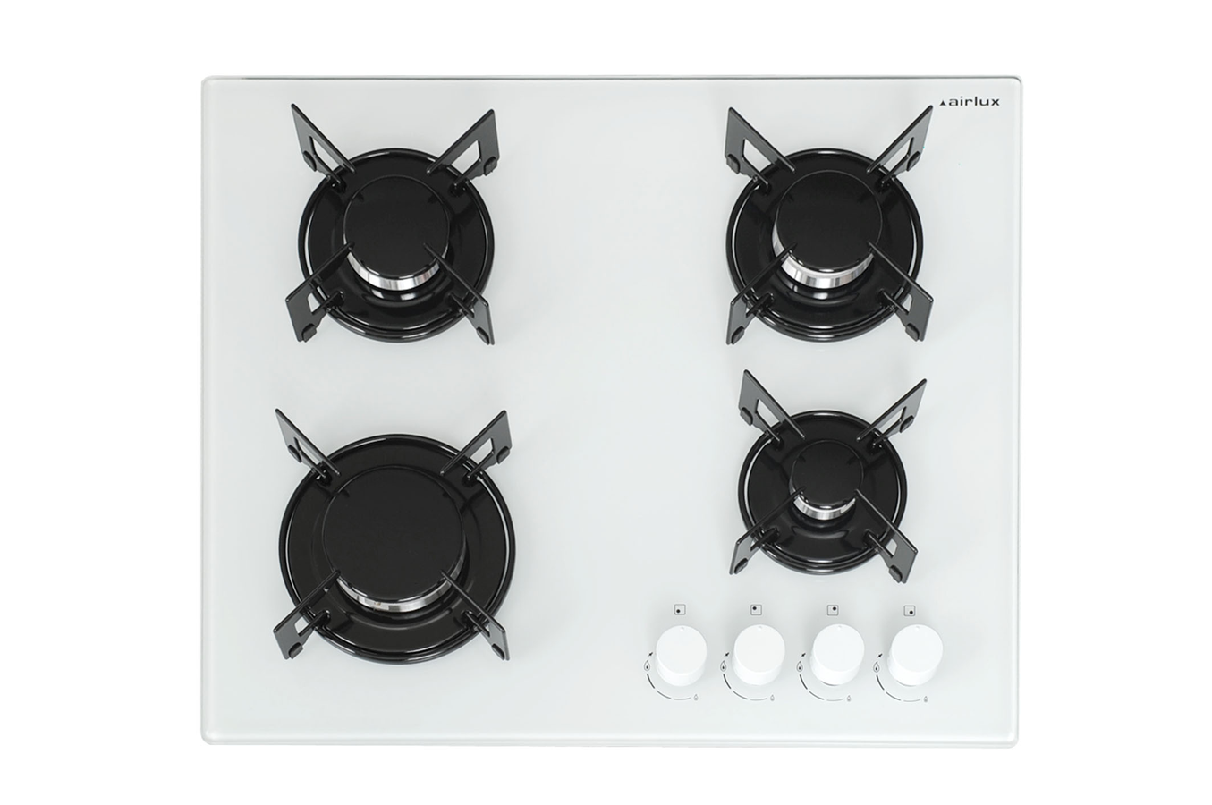 Table de cuisson induction et gaz blanc verre - Table de cuisson gaz induction ...