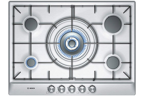 Plaque gaz bosch pcq 715 b80e inox pcq 715 b80e 3135063 - Table de cuisson mixte gaz induction 5 feux ...