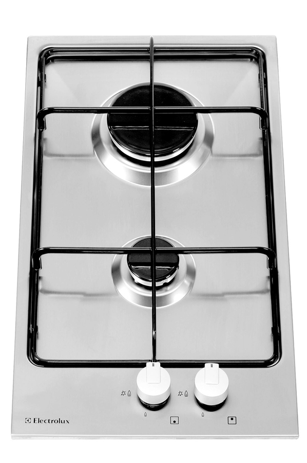 Plaque gaz electrolux ehg30215x inox ehg30215x 3222373 darty - Table de cuisson gaz darty ...