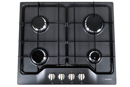 Plaque gaz scholtes tg 640 an anthracite darty - Table de cuisson mixte gaz induction 5 feux ...