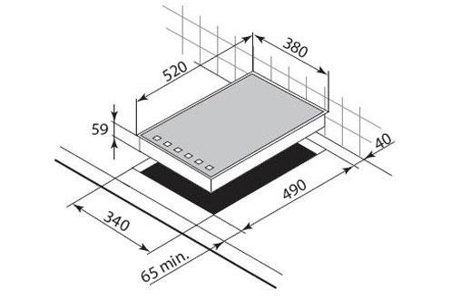 De dietrich dti1041 four micro ondes prix comparer sur for Cadre inox pour plaque induction