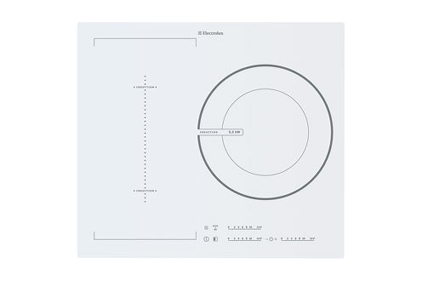 Plaque induction electrolux ehd60137iw blanc ehd60137iw - Electrolux ehl7640fok table induction ...
