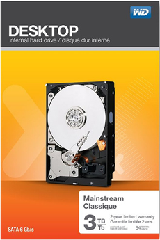 Disque dur interne Desktop Mainstream 3To Wd