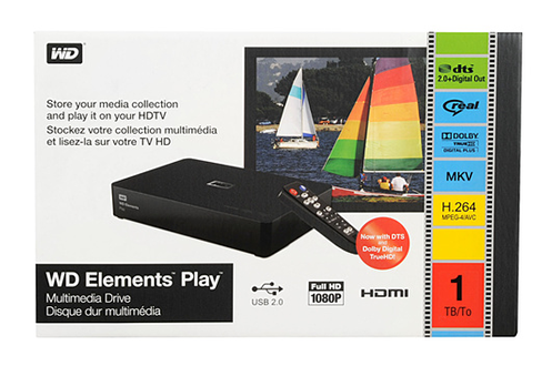 Western Digital ELEMENTS PLAY 1To USB 2.0 / HDMI