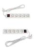 Temium Pack de 2 multiprises 5 prises 1,5M blanc photo 1