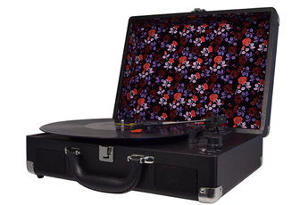 Platine disque H.TURN BLACK&FLOWERS Halterrego