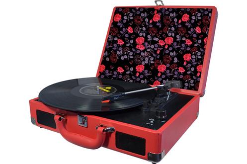Platine disque Halterrego H.TURN RED&FLOWERS