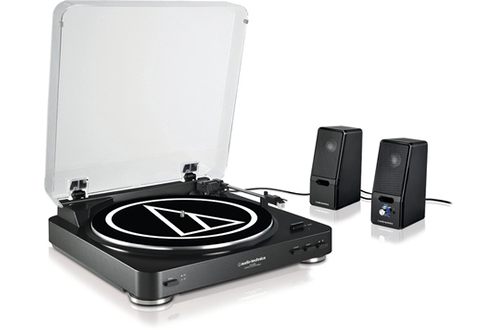 Platine disque AT-LP60BK+SP121BKE Audio Technica