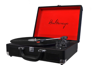 Platine disque H.TURN LIBERTY BLACK & RED Halterrego