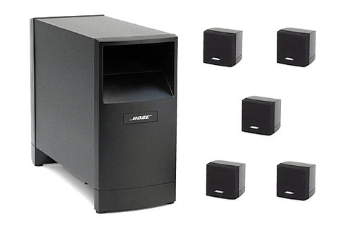 pack d 39 enceintes bose acoustimass 6 s3 noir 1551060. Black Bedroom Furniture Sets. Home Design Ideas