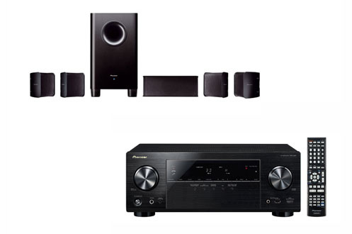 pack ampli enceintes pioneer vsx528b shs100 vsx528b. Black Bedroom Furniture Sets. Home Design Ideas