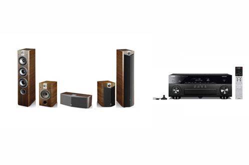 Pack Ampli + enceintes RXA830B + PACK726V Yamaha