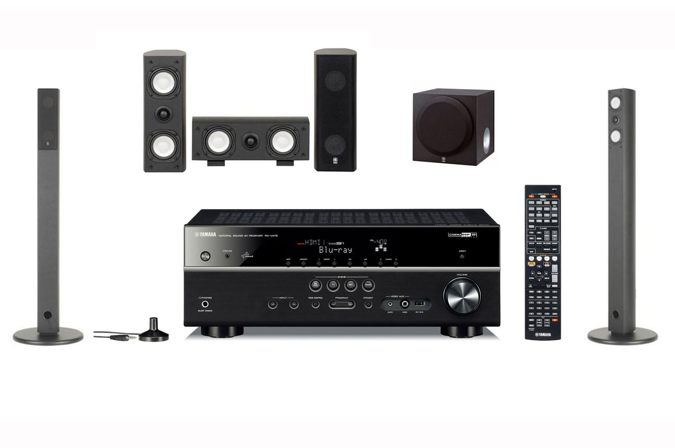 Pack Ampli + enceintes Yamaha RXV475 + NS AP7800