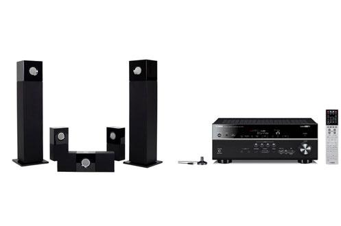 Pack Ampli + enceintes RXV673BL+CUBE5.0 Yamaha