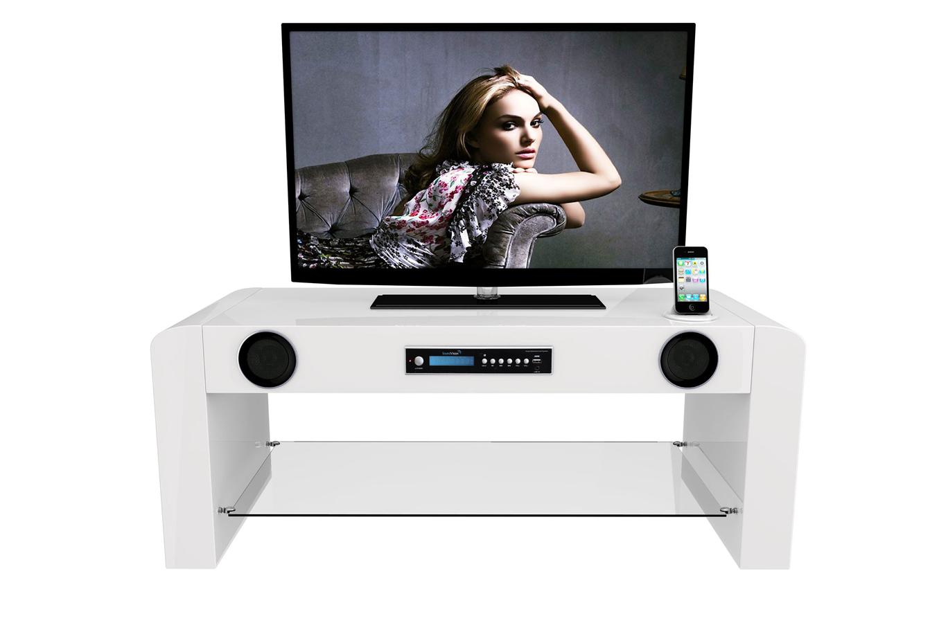 meuble home cin ma soundvision sv 70w bt 3810496 darty. Black Bedroom Furniture Sets. Home Design Ideas