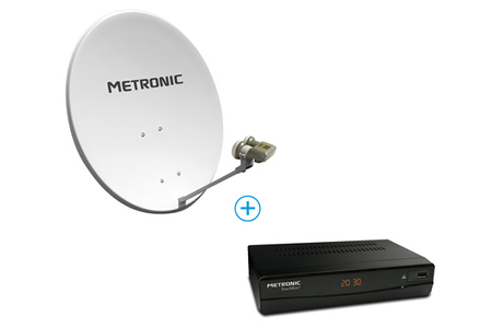 decodeur satellite metronic parabole lnb terminal 498268. Black Bedroom Furniture Sets. Home Design Ideas