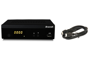 Récepteur TNT BTR1203HD + HDMI 1,2 M Brandt