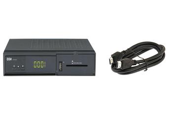 Récepteur TNT par satellite E-SAT HD-W3 FRANSAT + CABLE HDMI Cgv