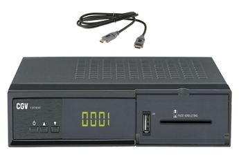 Récepteur TNT par satellite E-SAT HD-W3+HDMI 1,5 M Cgv