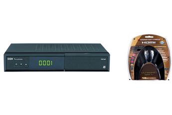 Récepteur TNT par satellite SAT HD-W5 TNTSAT + CABLE HDMI 4K Cgv