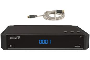 Récepteur TNT par satellite HD CONNECT FRANSAT + CABLE HDMI 1.4 Meosat