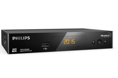 Les chaînes gratuites de la TNT HD en qualité par le satellite! Le récepteur DSR3031F de Philips est prêt à recevoir les chaînes HD de la TNT. Profitez de l'image HD claire et lumineuse des chaînes TV EUTELSAT en Haute Définition. Idéal pour réceptionner