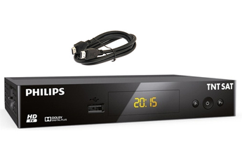Récepteur TNT par satellite DSR 3231 + HDMI 1,2 M Philips