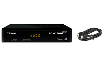 Récepteur TNT par satellite SRT7404 TNTSAT + CABLE HDMI Strong