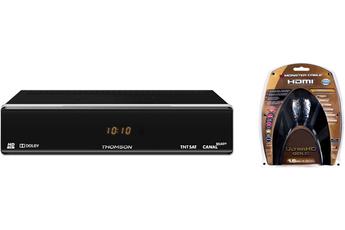 Récepteur TNT par satellite THS804 TNTSAT + CABLE HDMI 4K Thomson
