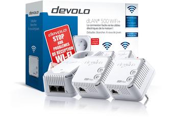 Réseau par courant porteur dLAN 500 WIFI + NETWORK KIT Devolo
