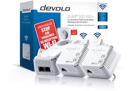 Réseau par courant porteur Devolo dLAN 500 WIFI + NETWORK