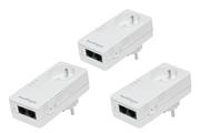 Netgear Pack de 3 adaptateurs CPL 500 Mbps avec prises filtrées et 2 ports Ethernet