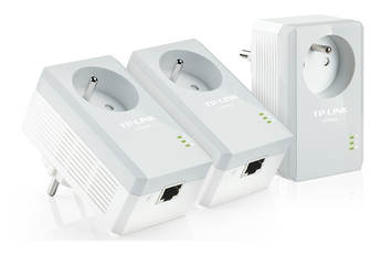 Réseau par courant porteur TL-PA4015PTKIT Adaptateur CPL AV500 avec prise intégrée Tp-link