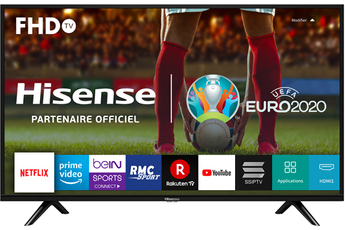 """Écran de 101 cm (40"""") - HDTV 1080p Rétro-éclairage LED Direct - Technologie 50Hz - Son Dolby Audio Smart TV, Quad-Core, Wifi intégré, Boutons d'accès direct à Netflix et Youtube 2 HDMI, 2 USB, 1 Port Ethernet, 1 Prise Casque, Design fin"""