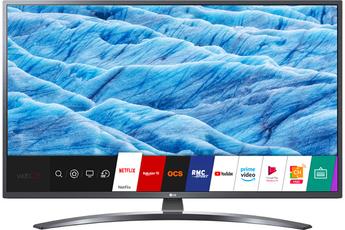 """Ecran 108 cm (43"""") - 100% 4K UHD Rétro-éclairage Direct LED Smart TV webOs 4.5, Wifi intégré, Wifi Direct, Processeur Quad Core, Miracast 3 HDMI, 2 USB avec fonction PVR, Port CI +"""