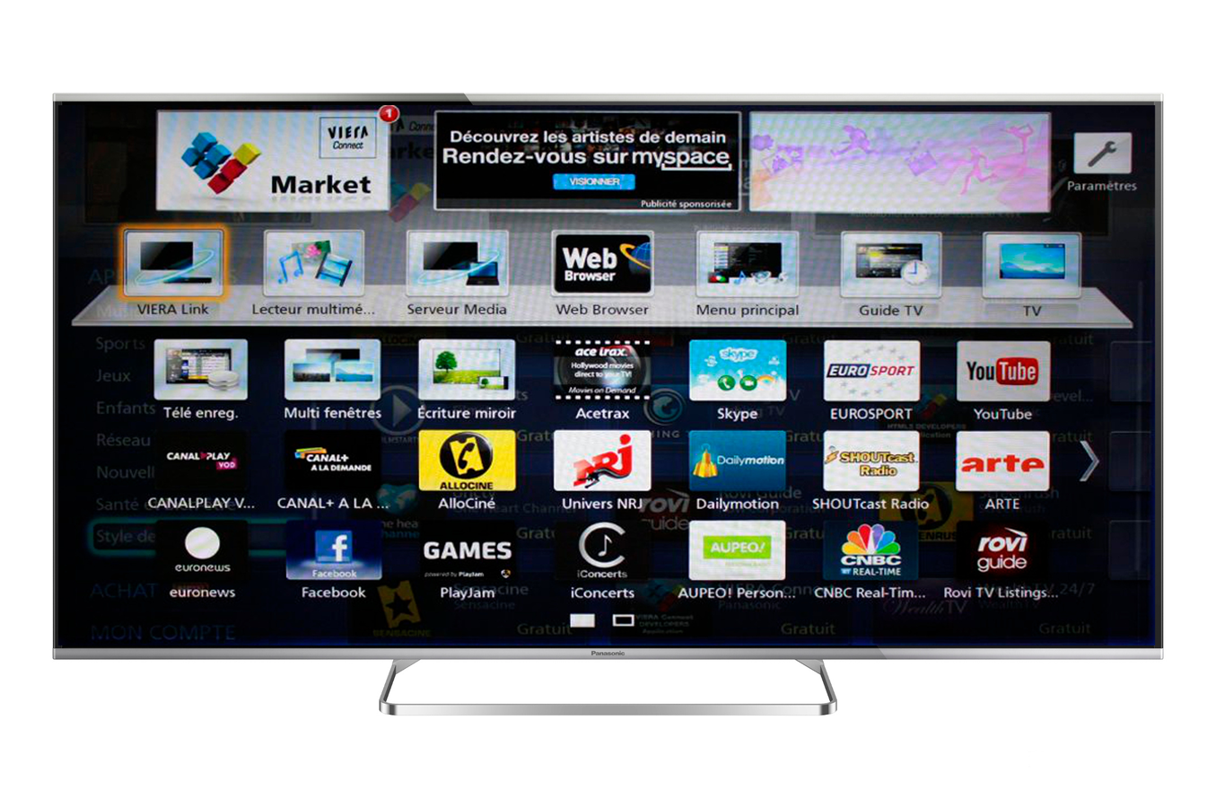 tv led panasonic tx 60as650e smart 3d 60as650e 4013158 darty. Black Bedroom Furniture Sets. Home Design Ideas