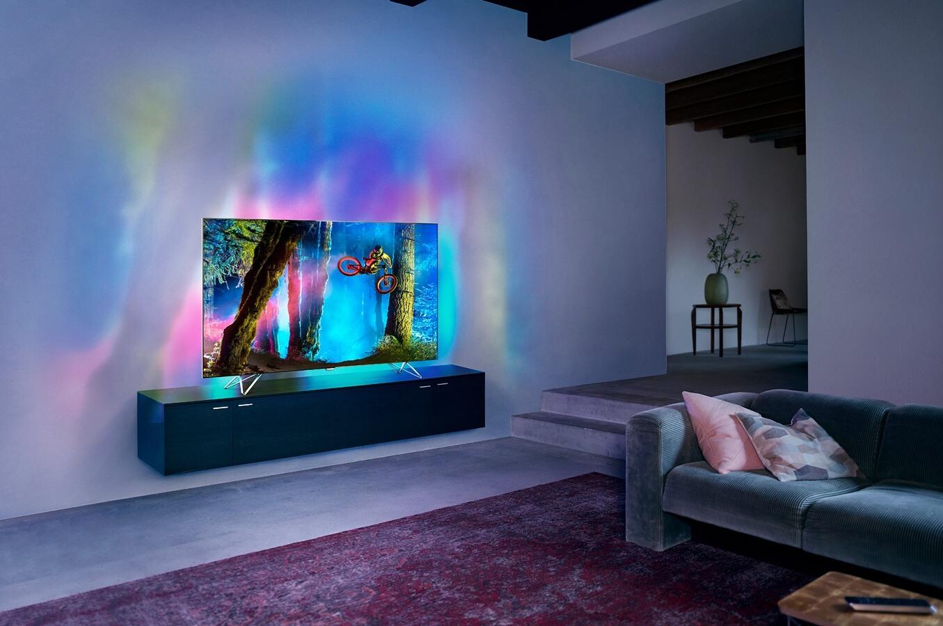 tv led philips 65pus8901 ambilux 4k uhd 65pus8901. Black Bedroom Furniture Sets. Home Design Ideas