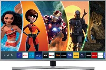 Ecran de 108 cm - UHD/4K Rétro éclairage LED UHD Dimming 3 HDMI, 2 USB avec fonction PVR, Port CI + Smart TV, Navigateur internet, Wifi intégré, Wifi Direct, Quad Core