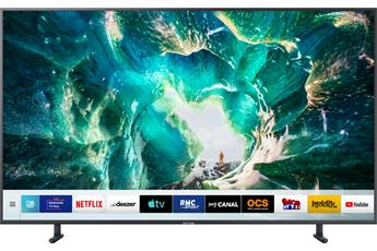 """Ecran de 163 cm (65"""") - 100% 4K UHD Rétro-éclairage LED - Résolution 3840 x 2160 pixels Smart TV, Navigateur internet, Wifi intégré, Processeur Quad Core 4 HDMI, 2 USB avec fonction PVR, Port CI+ - Accès Canal intégré"""