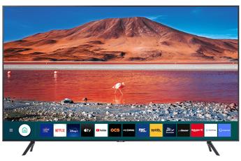 Ecran de 177 cm - 100% UHD/4K - Crystal Processor 4K UHD dimming - HDR 10+ SmartThings maison connectée: Google Assistant et AirPlay 2 2 HDMI - 1 USB - 1 prise numérique optique