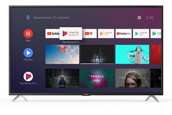 """Ecran de 164 cm (65"""") - 100% 4K UHD - Rétro-éclairage LED Direct 4K HDR - HDR 10 - HLG - Son Harman Kardon Smart TV - Android TV - Google Assistant - Navigateur Web - Bluetooth intégrée 4 HDMI, 3 USB, Port CI+, 1 RJ45"""