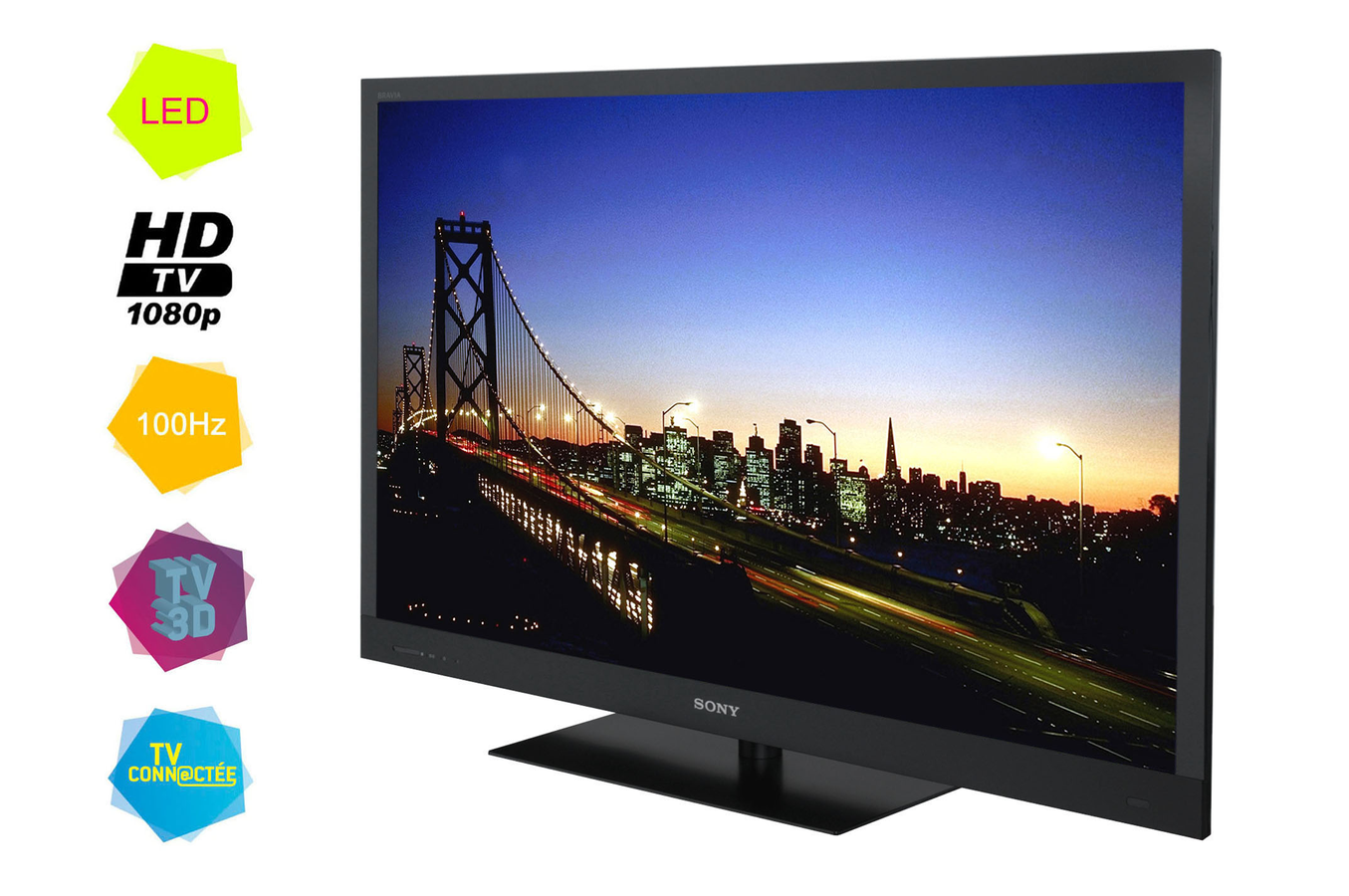 tv led sony bravia kdl55ex721 led 3d bravia kdl55ex721 3406563 darty. Black Bedroom Furniture Sets. Home Design Ideas