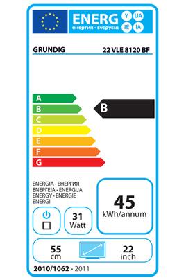 Grundig 22VLE8120BF LED NOIR