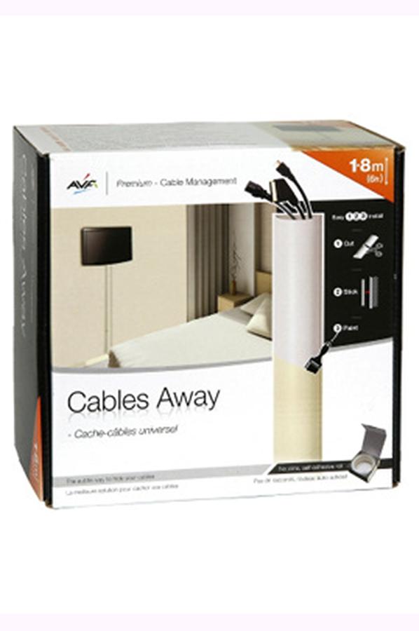 accessoire pour support tv avf cache fil ua180w ua180w. Black Bedroom Furniture Sets. Home Design Ideas