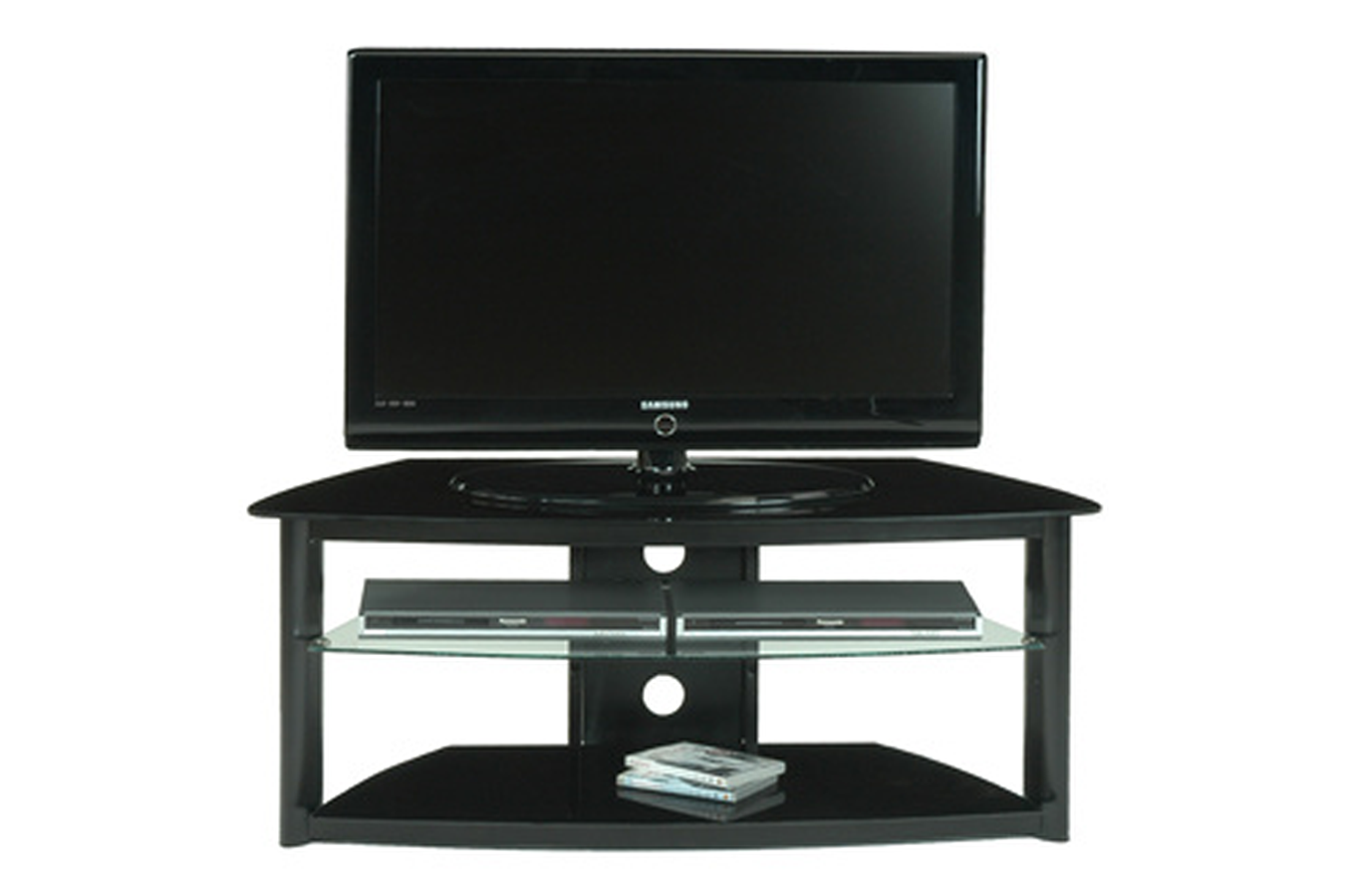 meuble tv jahnke mr 89 noir 2764369 darty. Black Bedroom Furniture Sets. Home Design Ideas