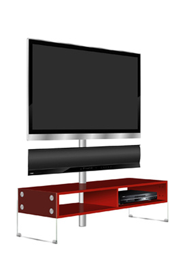 meuble tv yamaha kinsei rouge 3292290 darty. Black Bedroom Furniture Sets. Home Design Ideas