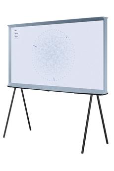 """Ecran de 138 cm (55"""") QLED - 4K UHD 100% du Volume Couleur - Quantum Processor 4K - Compatible HDR 10+ Smart TV, Navigateur internet, Wifi intégré, Wifi Direct, DLNA, Miracast Mode Ambiant The Serif - pieds détachables - technologie NFC - 4 HDMI - 2"""